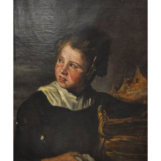 Dutch School Portrait of a Young Child 19th Century. After Frans Hals. A remarkable 19th century oil on Canvas....