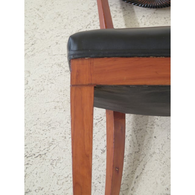 1940s 1940s Vintage Biedermeier Style Cherry Side Chair For Sale - Image 5 of 10