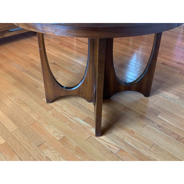 aedfcca891c6b Beautiful mid-century modern 6140-45 solid walnut dining table with one 12-