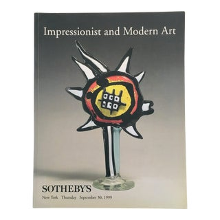 1999 Sotheby's Impressionist & Modern Art Auction Catalog For Sale