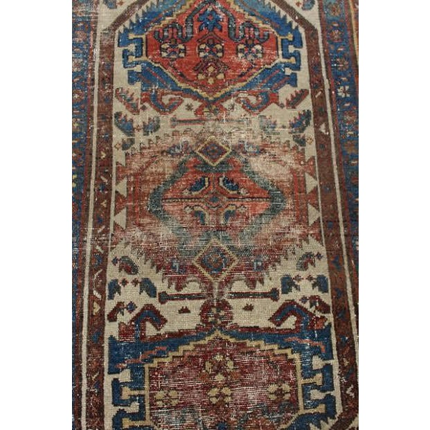 """Antique Persian Rug - 2'9"""" x 4'5"""" - Image 7 of 9"""