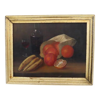 Antique American Still Life Oil Painting Artist Signed & Dated 1894 For Sale
