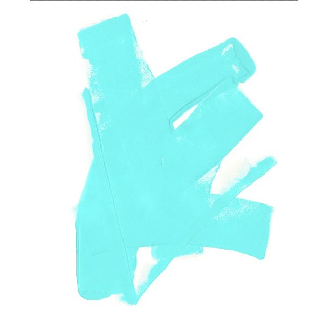 Abstract Tiffany Blue Fine Art Print by Tony Curry For Sale - Image 3 of 3