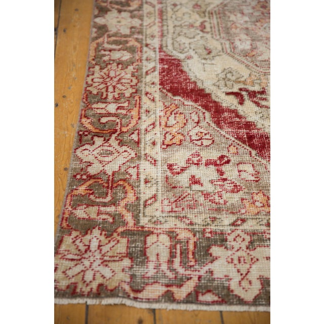 """Vintage Distressed Oushak Rug - 4'8"""" X 7'8"""" For Sale In New York - Image 6 of 10"""