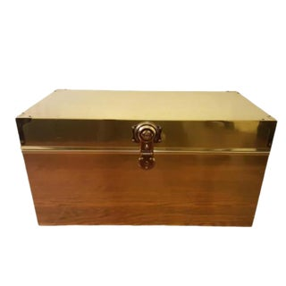 Mid Century Dresher Brass Trunk For Sale