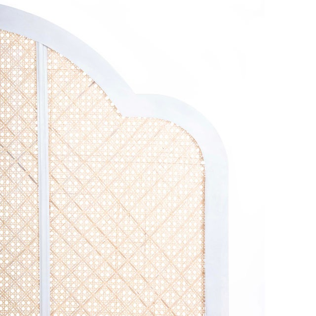 Gently scalloped panels hand woven in a pierced lattice of natural rattan give our Antigua Headboard a warm, island-...