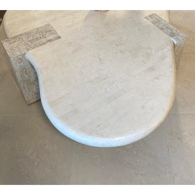 Modern Tessellated Stone Biomorphic Coffee Table, by Maitland Smith For Sale - Image 3 of 12