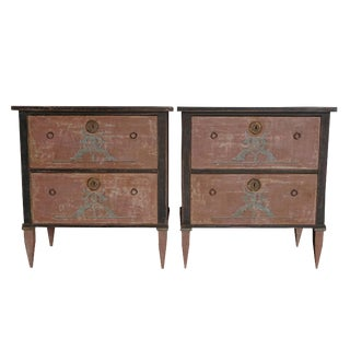 20th Century Neoclassical Gustavian Style Chests - a Pair For Sale