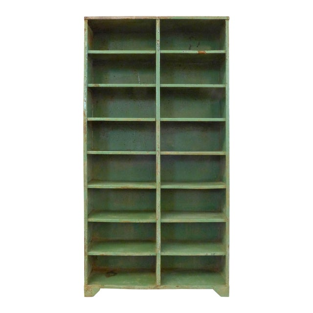 1930s French Industrial Shelving Unit For Sale