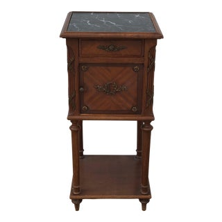 17th Century Baroque Wooden Side Table With Brass Details For Sale