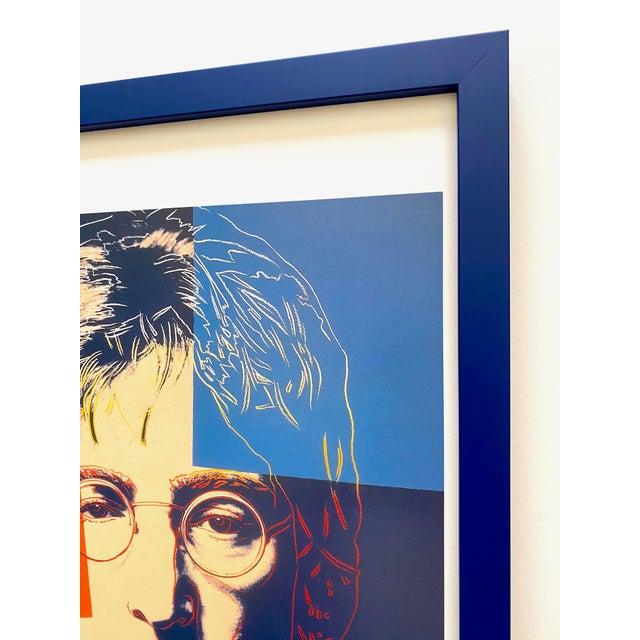 """Andy Warhol Estate Vintage 1990 Framed Pop Art Lithograph Print """" John Lennon """" 1986 For Sale - Image 9 of 13"""
