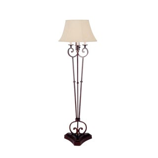 Huntington Wrought Iron Floor Lamp by Murray's Iron Works For Sale