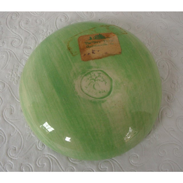 Dodie Thayer Cabbageware Lettuce Leaf Butter Pat Dish For Sale - Image 4 of 5