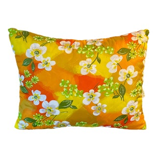 Mid Century Floral Pillow For Sale