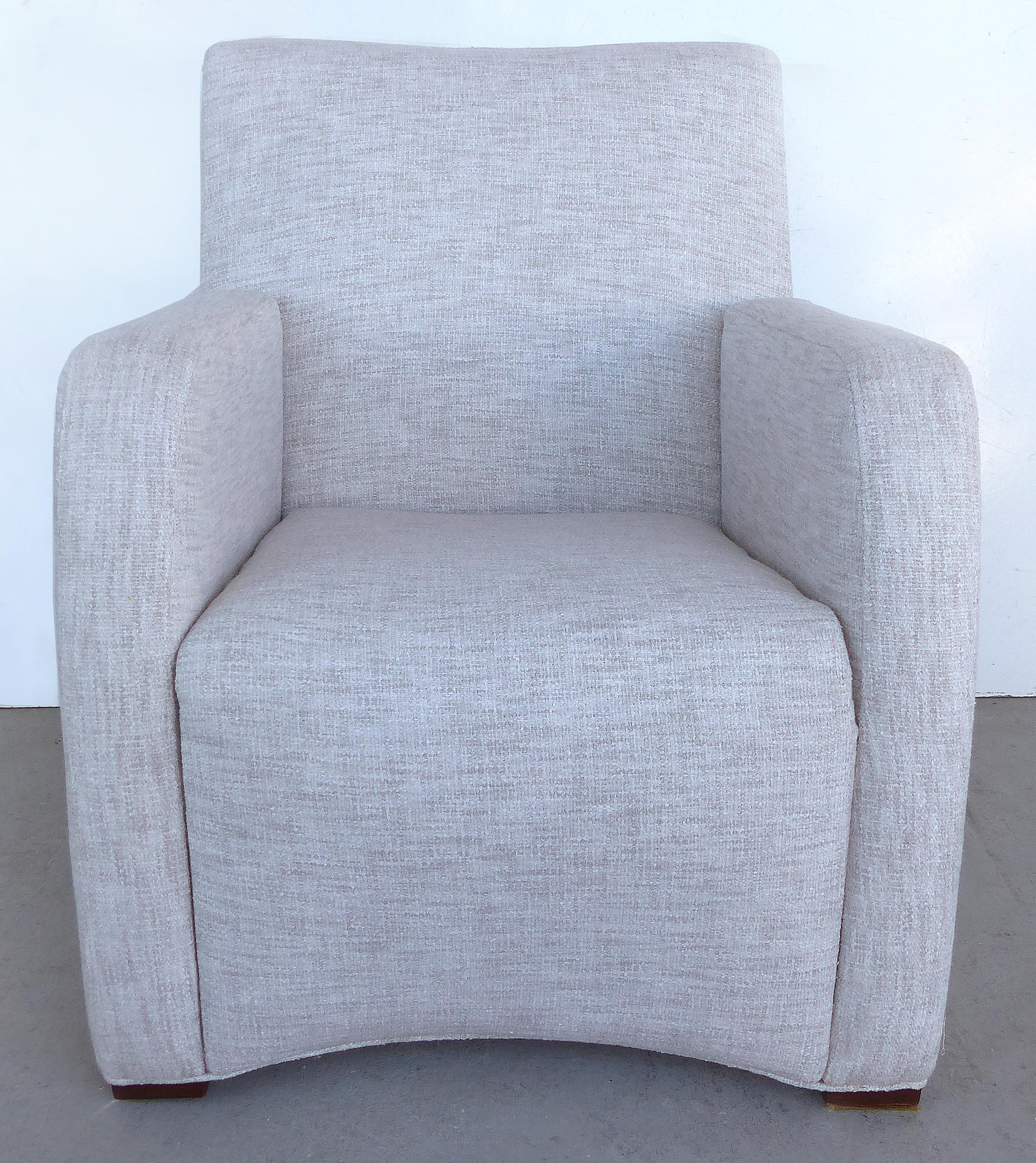 Offered For Sale Is A Newly Upholstered Pair Of Mid Century Modern Club  Chairs.