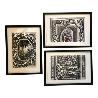 French Art Prints of Engravings by P. Mariette - Set of 3 For Sale
