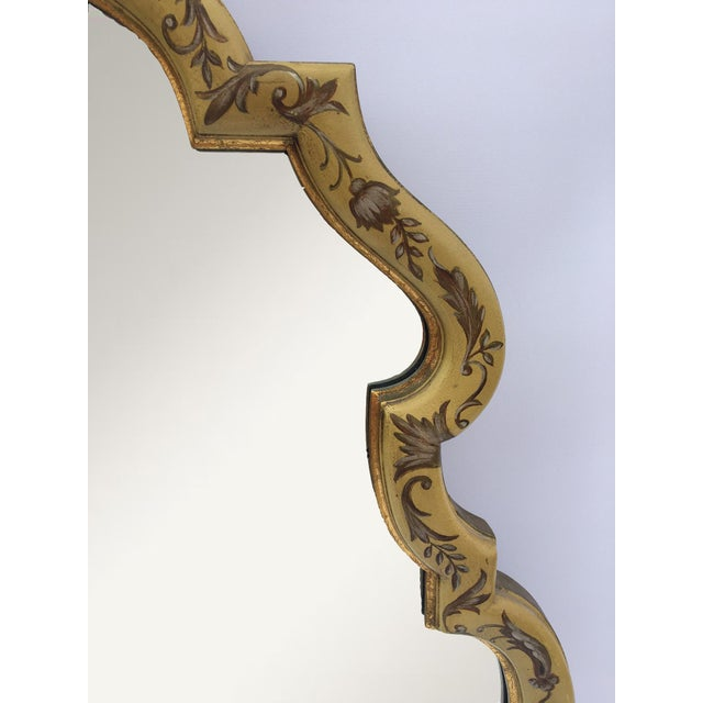 Baroque Gold Hand Painted Mirror by La Barge - Image 3 of 4