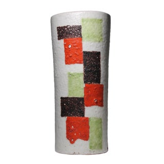 Large Impressive Gambone Lamp With Abstract Modern Paintings on White For Sale