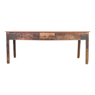 1920s Wood Patinated Work Table For Sale