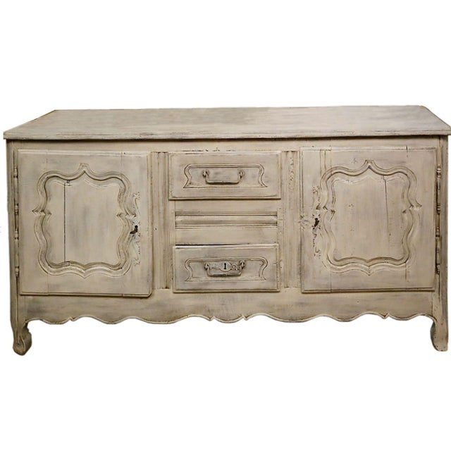 French 18th C Alsace Buffet, Oak Wood For Sale - Image 3 of 3