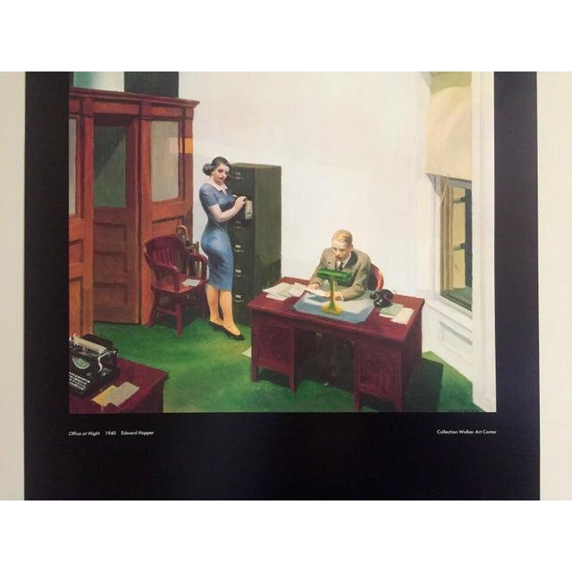 Edward Hopper-Office at night-1995 Poster