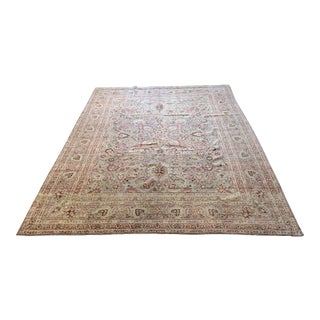 Vintage Mashad Wool Rug - 9′1″ × 12′ For Sale