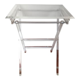 Lucite Folding Side Table