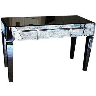 Silver Mirrored Desk For Sale