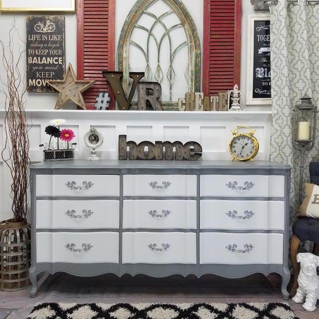 French Platinum Gray Dresser - Image 5 of 5