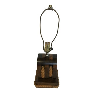 Nautical Pulley Table Tackle Lamp