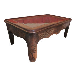 Drexel Heritage Et Cetera Glass Top Rectangular Coffee Table For Sale
