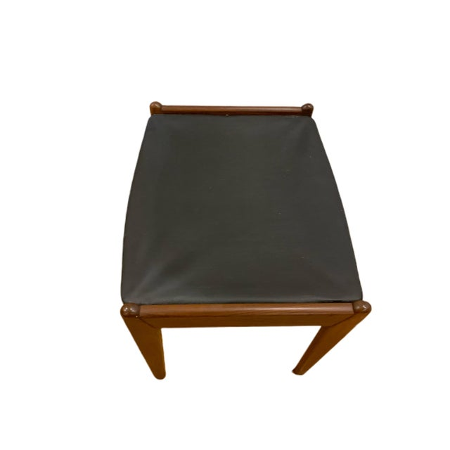 1960's Rare Danish Modern Footstool For Sale - Image 9 of 12