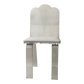 Lucite Vanity Chair in the Style of Charles Hollis Jones For Sale