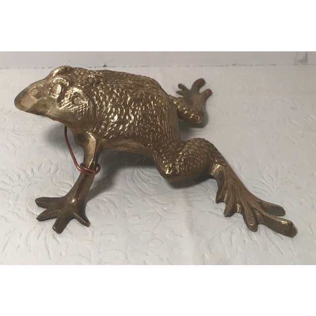 Vintage Brass Frog Figurine For Sale In Dallas - Image 6 of 9