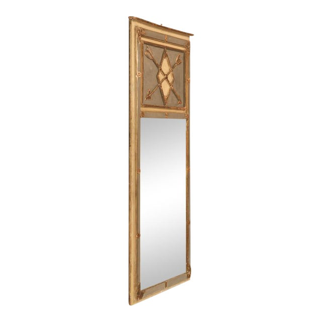 Antique Diamond & Crossed Arrows French Directoire Mirror For Sale