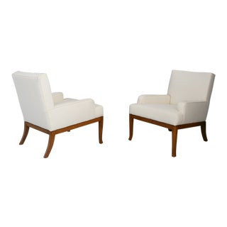 Pair of Armchairs by Robsjohn Gibbings , Saridis of Athens, Restored 40's For Sale
