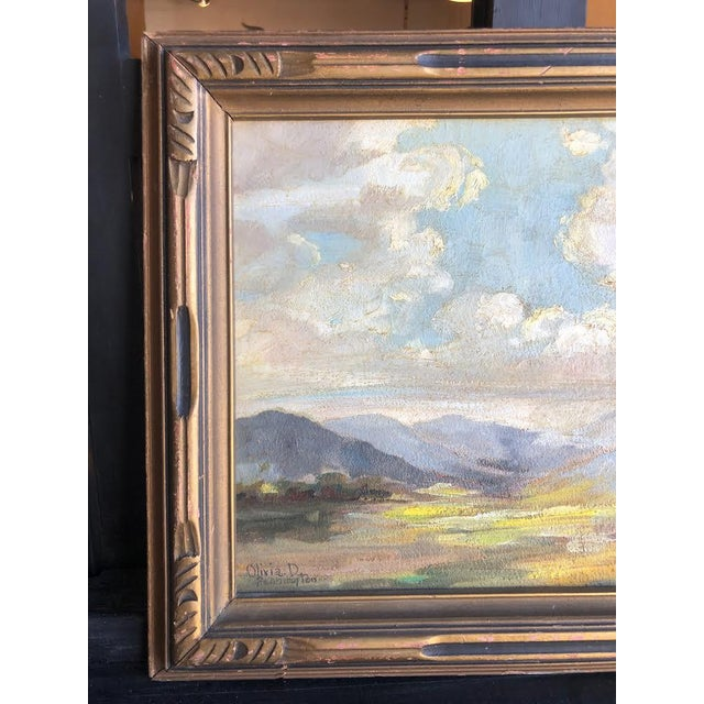 "This is a lovely early 20th century countryside landscape in its original frame signed ""Olivia D Pennington"" from..."