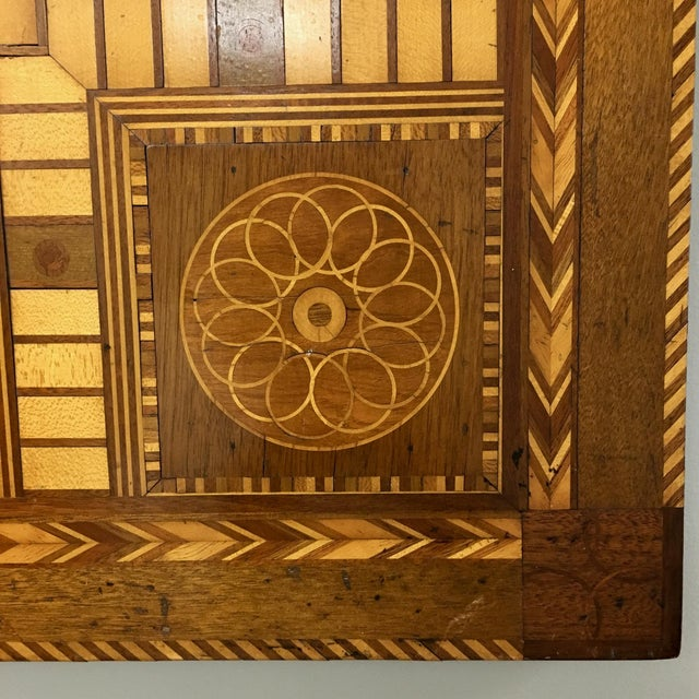 Antique 19th C. Inlaid Wooden Game Board - Image 3 of 9