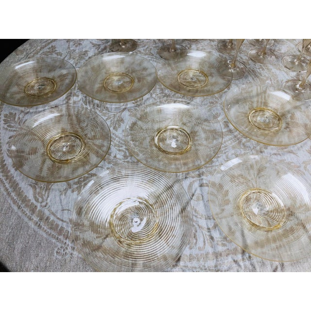 1950s Vintage Venetian Glassware/Barware - 32 Piece Set For Sale - Image 5 of 8