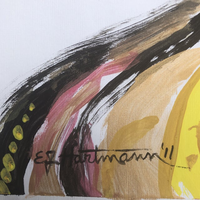 Original Contemporary Abstract Pop Art Portrait Painting Signed For Sale - Image 4 of 6