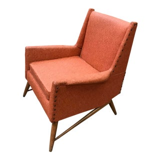 1950s Mid Century Modern Lounge Chair For Sale