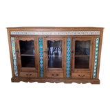 Image of 19th Century British Colonial Sideboard With Ceramic Tiles For Sale