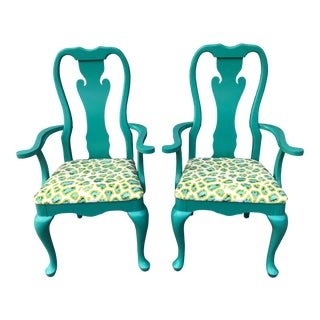 Thomasville Queen Anne Chairs - a Pair For Sale
