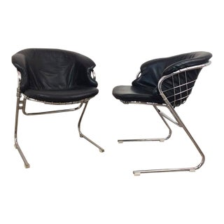 """1970s Gastone Rinaldi """"Flynn"""" Dining Chairs - a Pair For Sale"""