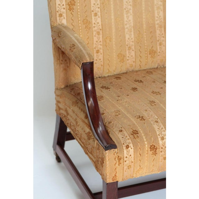 """18th Century George III Upholstered """"Gainsborough"""" Library Chair For Sale - Image 9 of 12"""