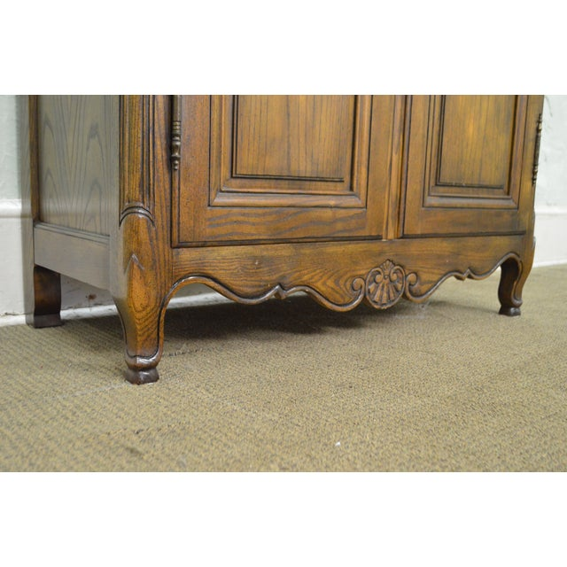 Baker French Louis XV Style Large Armoire Cabinet - Image 8 of 10