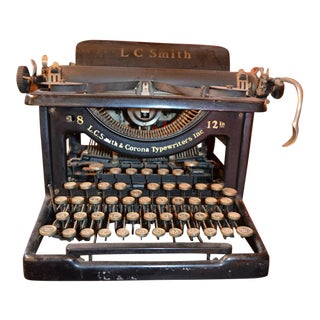 Vintage Lc Smith & Corona Typewriter For Sale
