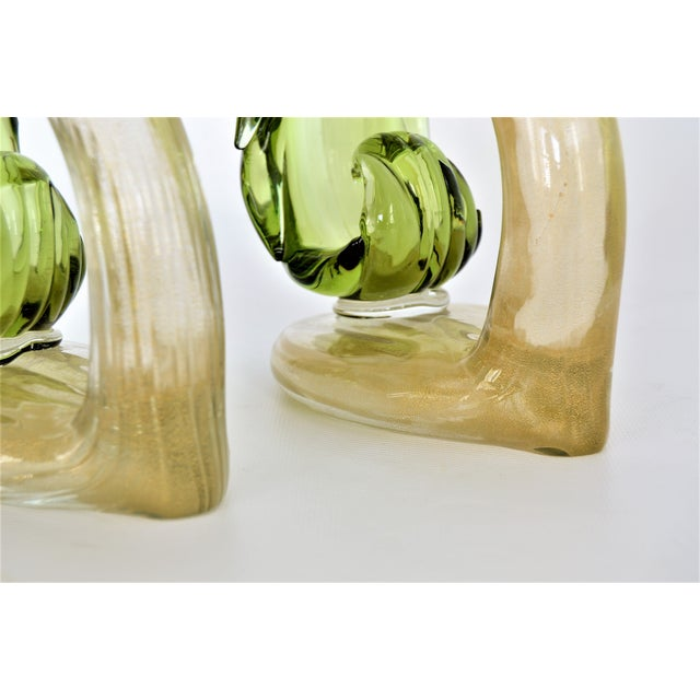 1950s Murano Glass Bird Figurines Sculptures- a Pair For Sale - Image 9 of 12