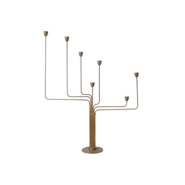 1950s Mid-Century Modern Piet Hein Ursa Major Brass Candelabra For Sale