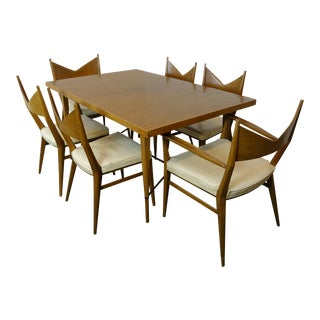 1950s Mid Century Modern Paul McCobb Dining Set - 7 Pieces For Sale